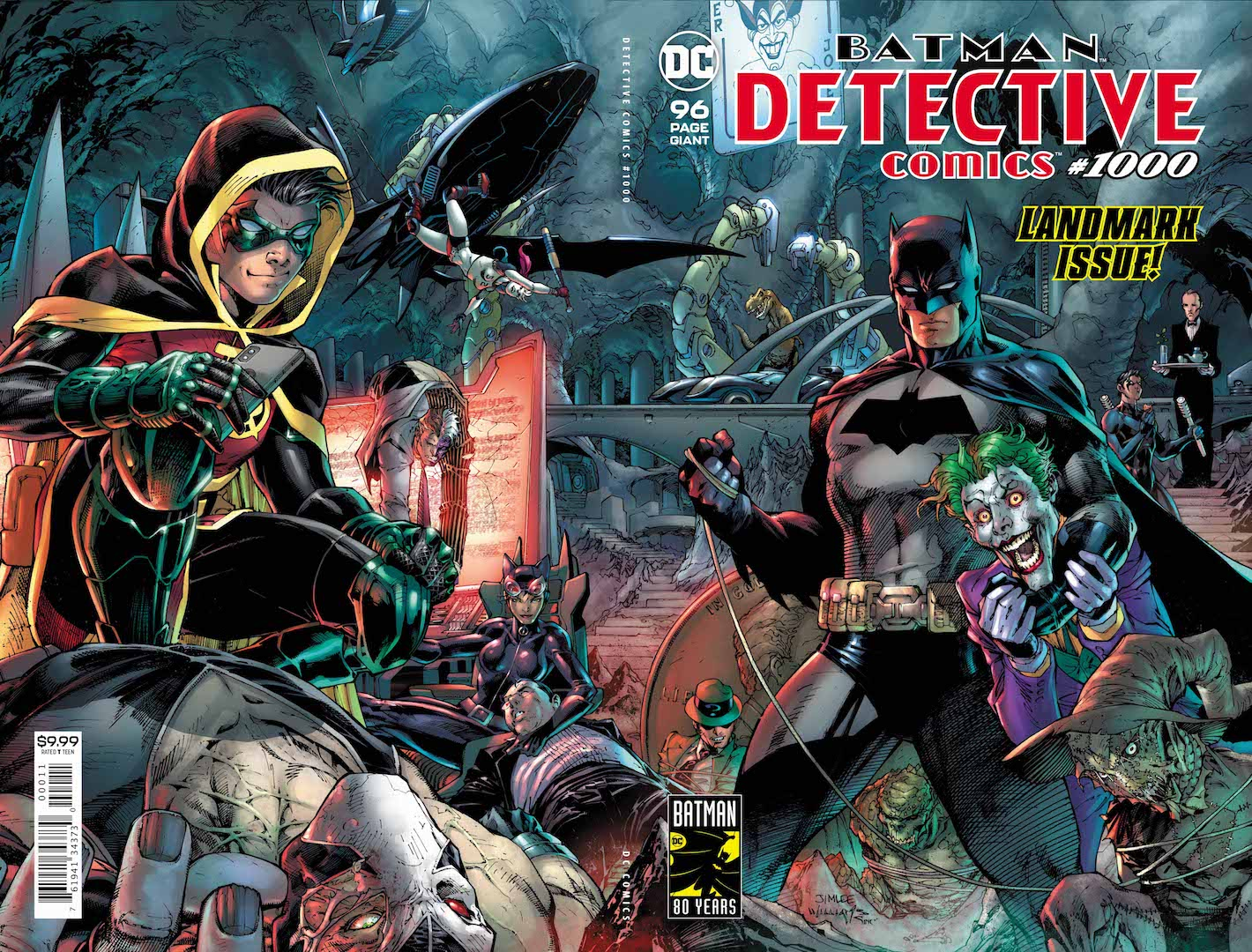 After 80 years, it's here—the 1,000th issue of DETECTIVE COMICS, the title that literally defines DC!