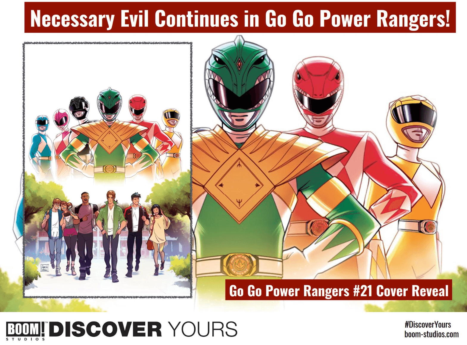 "Sina Grace will join Ryan Parrott just in time for the new ""Necessary Evil"" Power Rangers event."