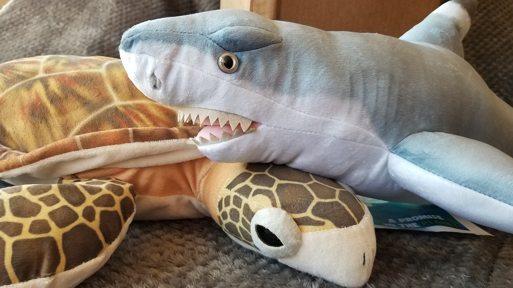 Wild Republic's 'Living Ocean Collection' shark and sea turtle review