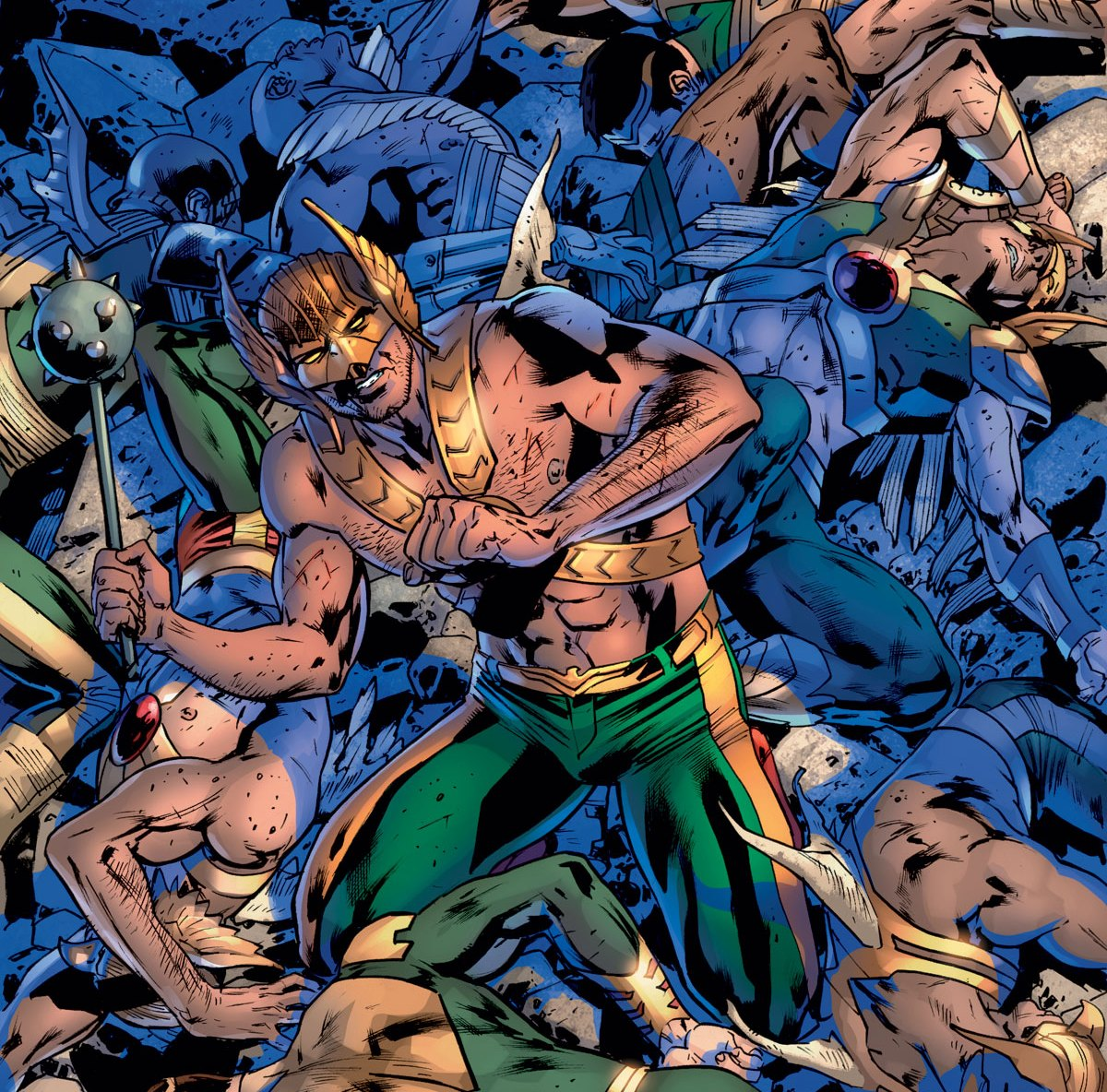 Every Hawkman ever together!