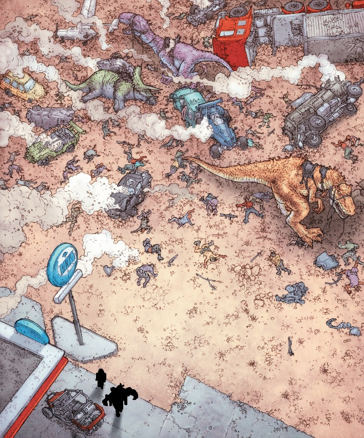 Guess which Valiant Entertainment characters are involved with this dino art