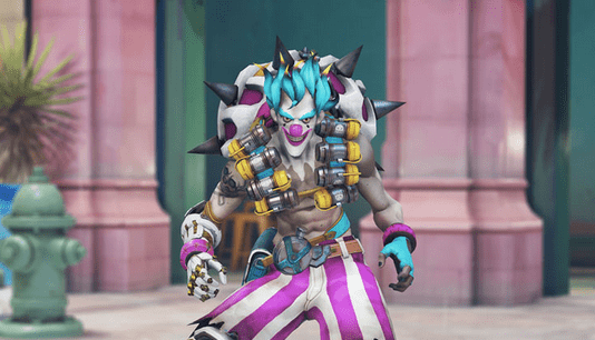 Junkrat is clowning around in new Overwatch Storm Rising skin