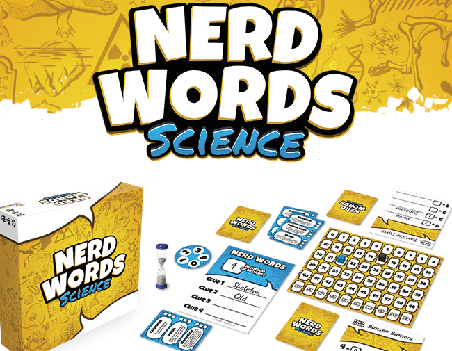 A 'thinky word game' for everyone to enjoy -- science nerd or not.