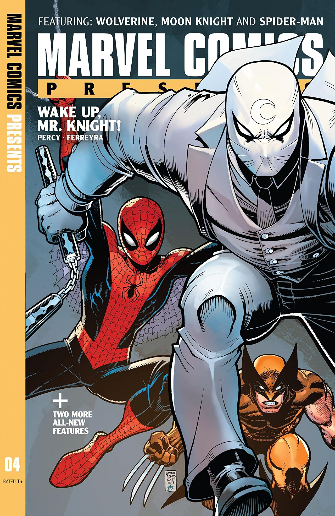 Wolverine, Spider-Man and Moon Knight are featured in the latest Marvel Comics Presents.