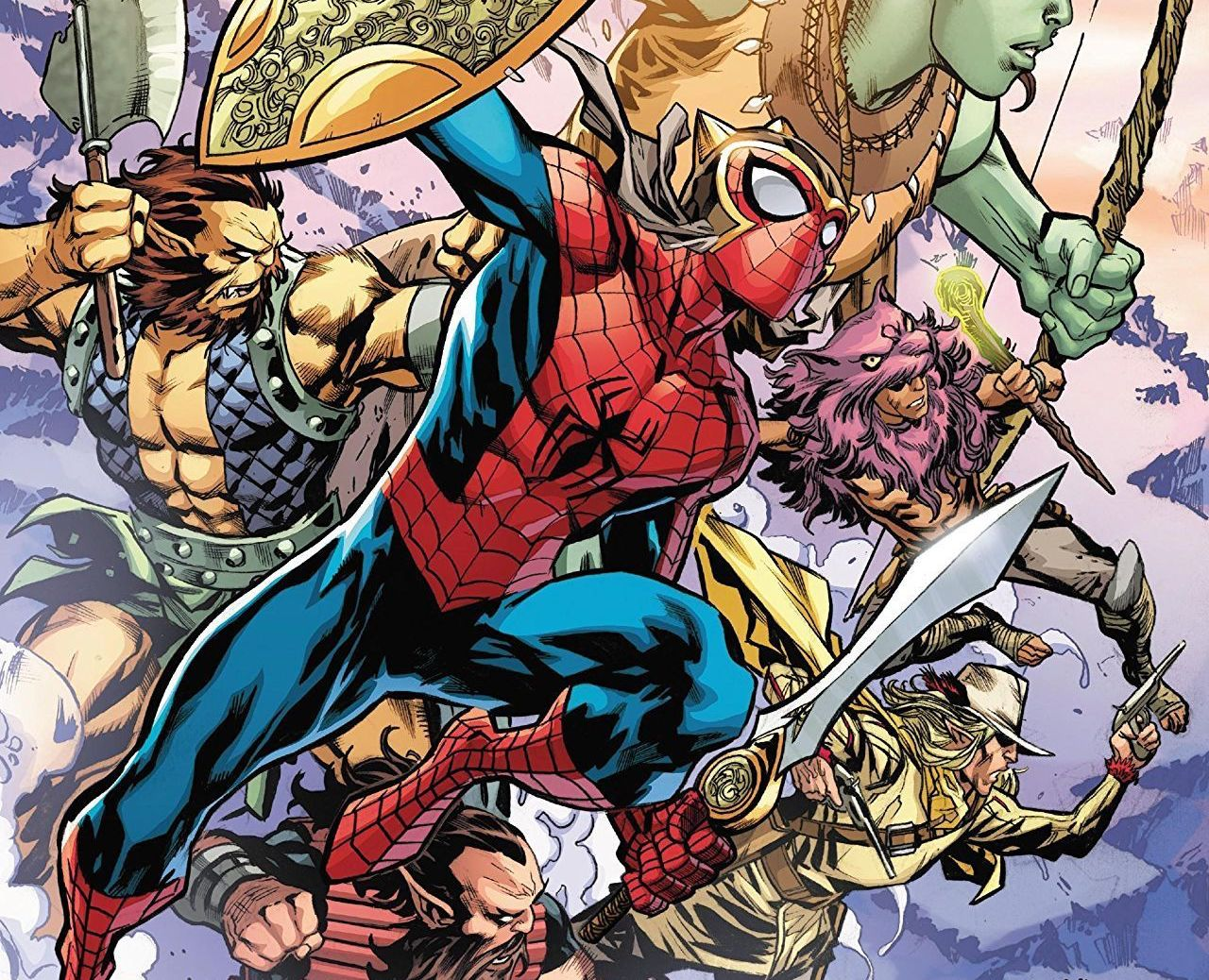 Spider-Man leads a band of murdering Asgardians. Wait what?!