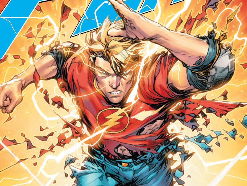 """The second part of """"The Flash: Year One"""" continues this week as Joshua Williamson and Howard Porter continue to reveal Barry's origin in the New 52. Based on the cliffhanger from last issue, Barry is learning things via trial by fire as time travel is involved. Use those speed powers, Barry -- you need to think fast!"""