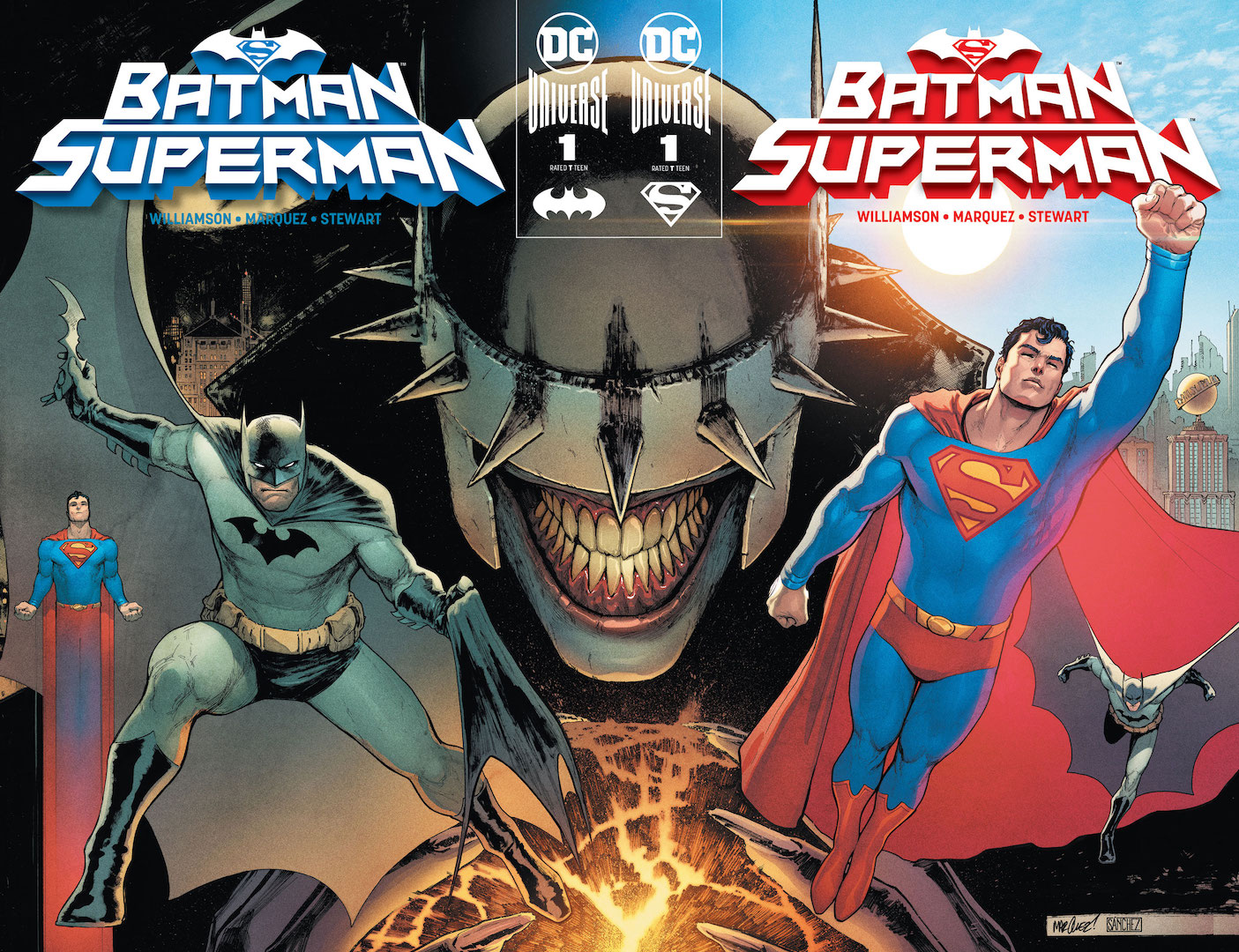 Batman and Superman must hunt down six infected heroes in the DCU this August
