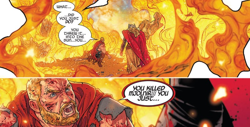 How Mjolnir is brought back from the dead in 'War of the Realms' #6
