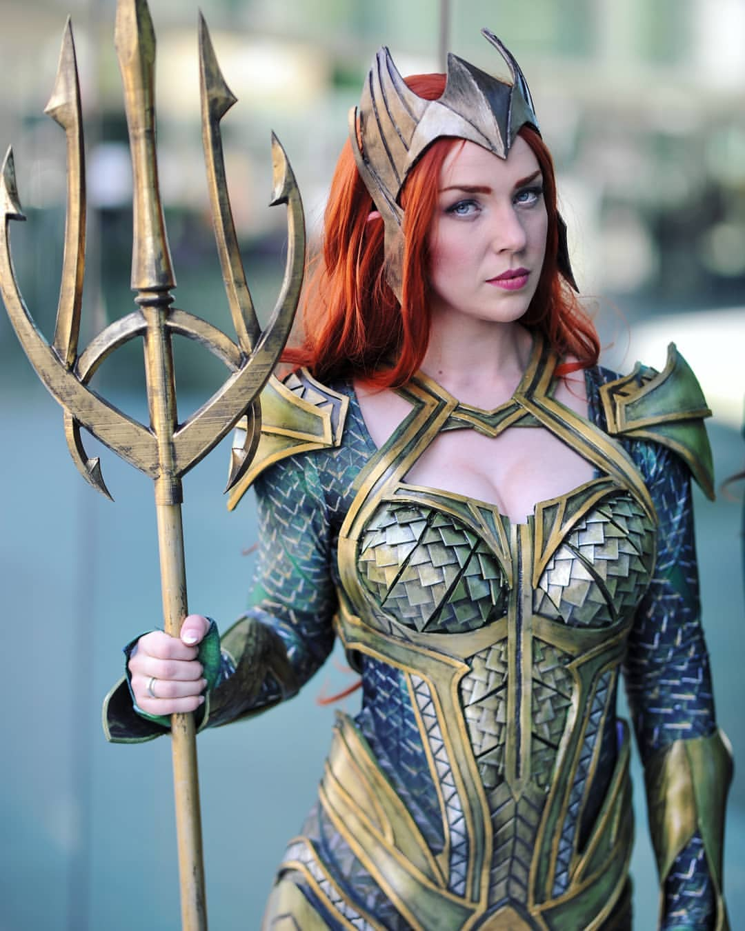 Captain Kaycee looks more than ready to preside over Atlantis as Mera in the following photo set.