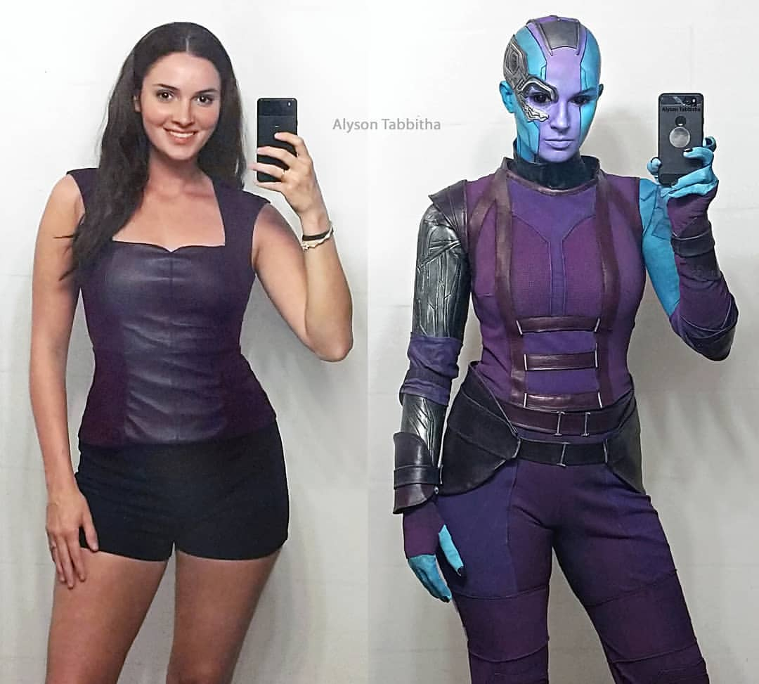 This Nebula cosplay by Alyson Tabbitha is so lifelike we expect her to start fighting Gamora any second.