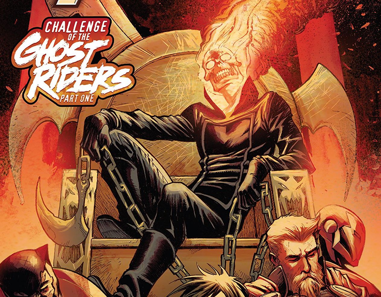 The Avengers are fresh off a day off from adventuring. Next up: an exorcism to try and save Robbie Reyes.  This new story arc will be involving many other supernatural heroes and previous Ghost Riders.  So, let's get ready to ride and check out the issue -- SPOILERS inside.