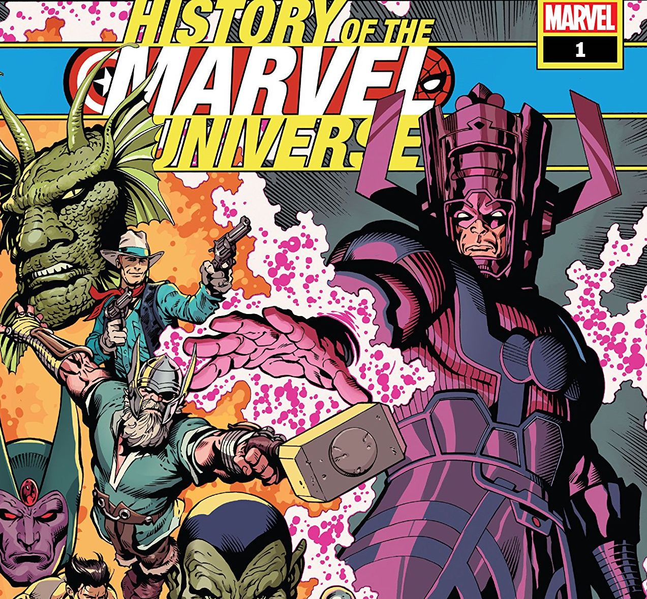 Mark Waid and Javier Rodriguez take us through millions of years of Marvel history in one miniseries.