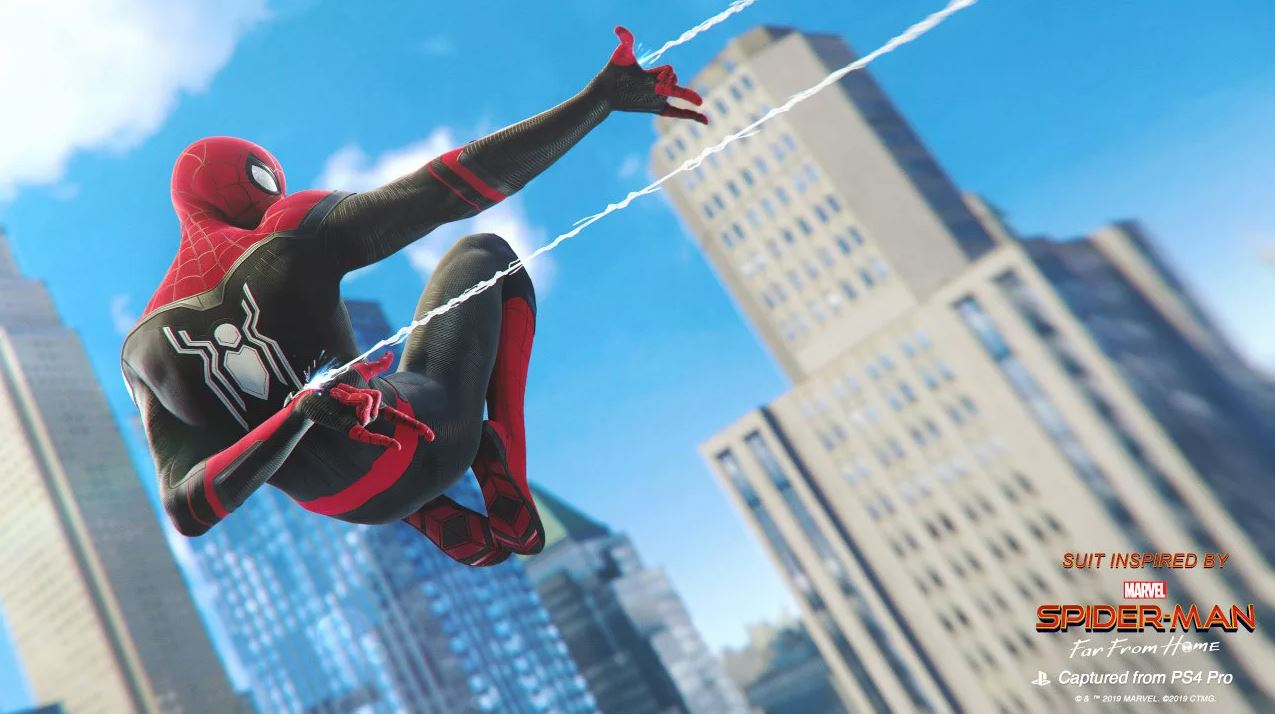 Spider-Man: Far From Home suits join the PS4 game today