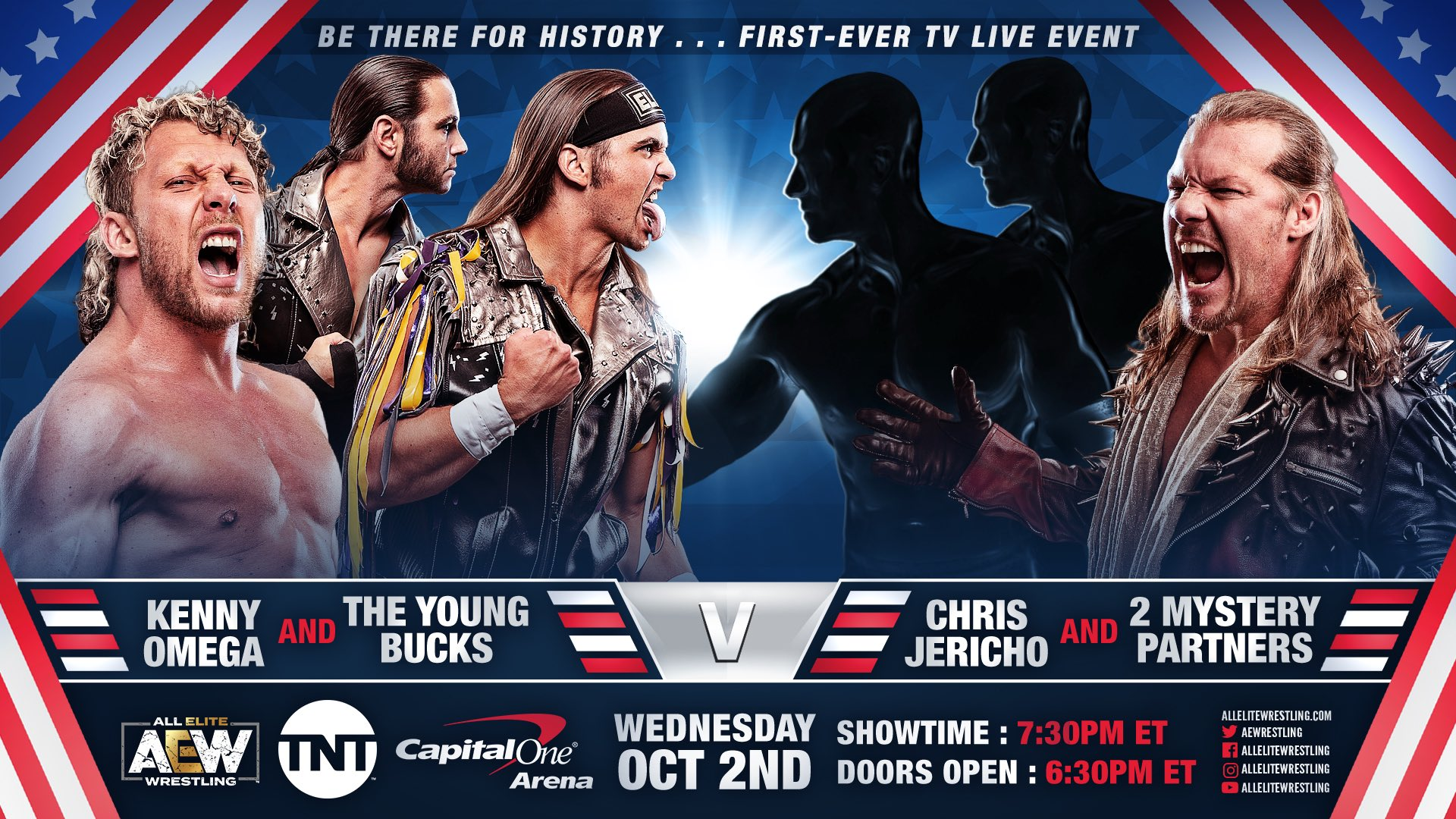 The Elite vs. Chris Jericho & Mystery Partners added to AEW's TNT debut
