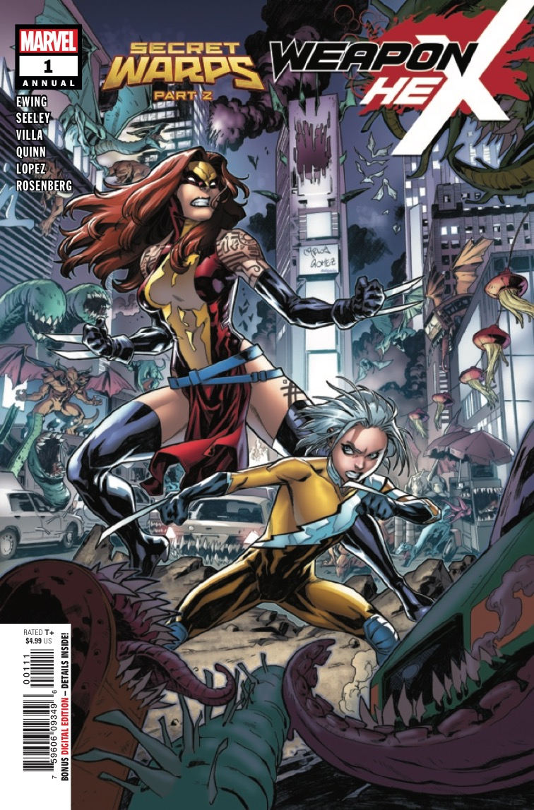 Weapon Hex and Speed Weasel join the fight for Warp World as the forces of Hell invade the streets of New York City!