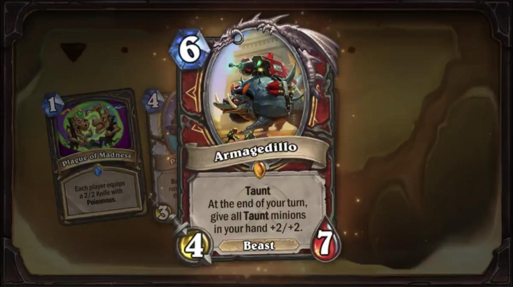 Hearthstone: Saviors of Uldum: New Warrior Legendary, Armagedillo revealed