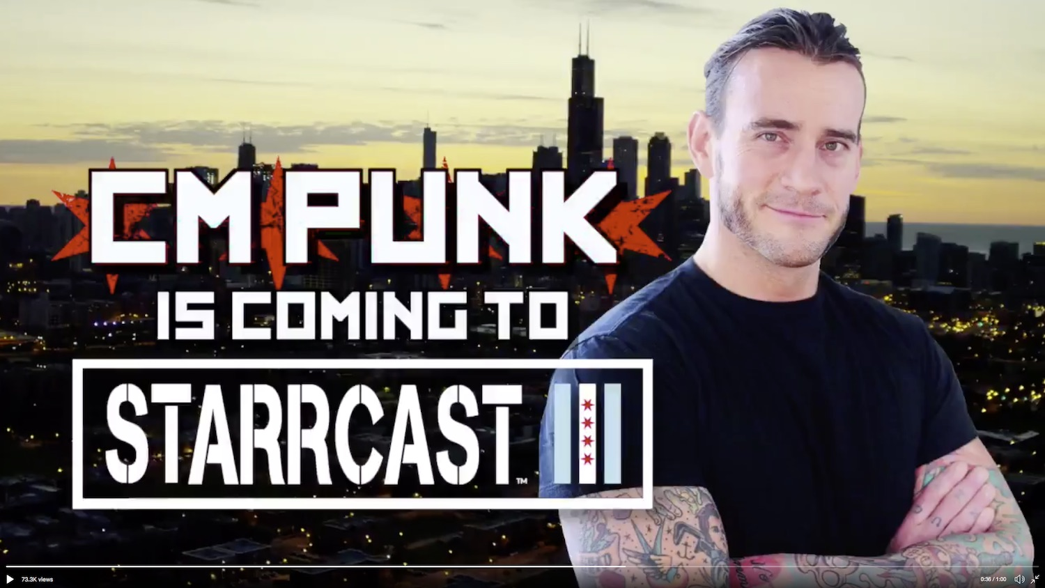 CM Punk will appear at Starrcast III before AEW All Out
