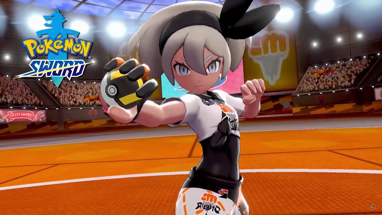 Pokemon Sword Bea The New Fighting Type Gym Leader Packs A Wallop