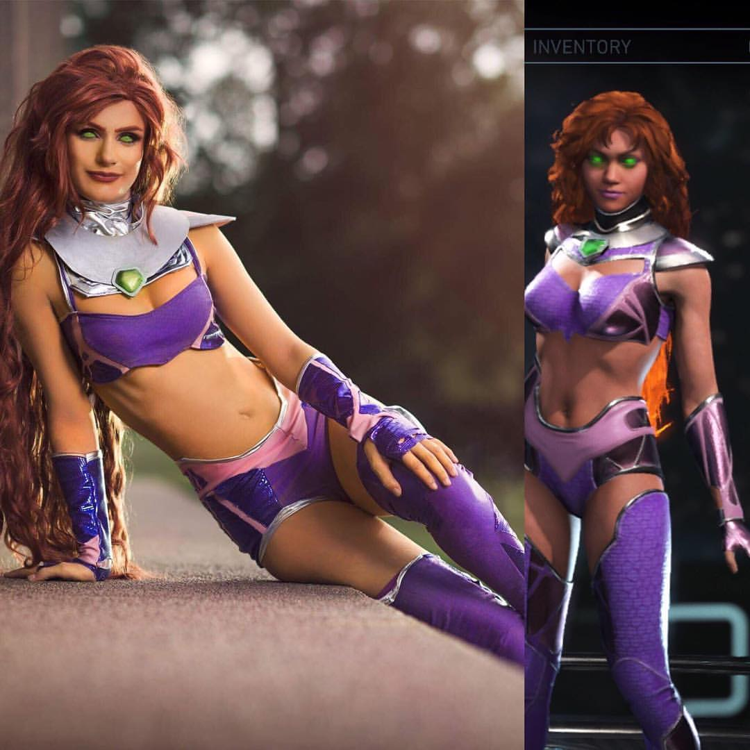 Starfire from Teen Titans fame comes to life courtesy of cosplayer Kan Stelar.