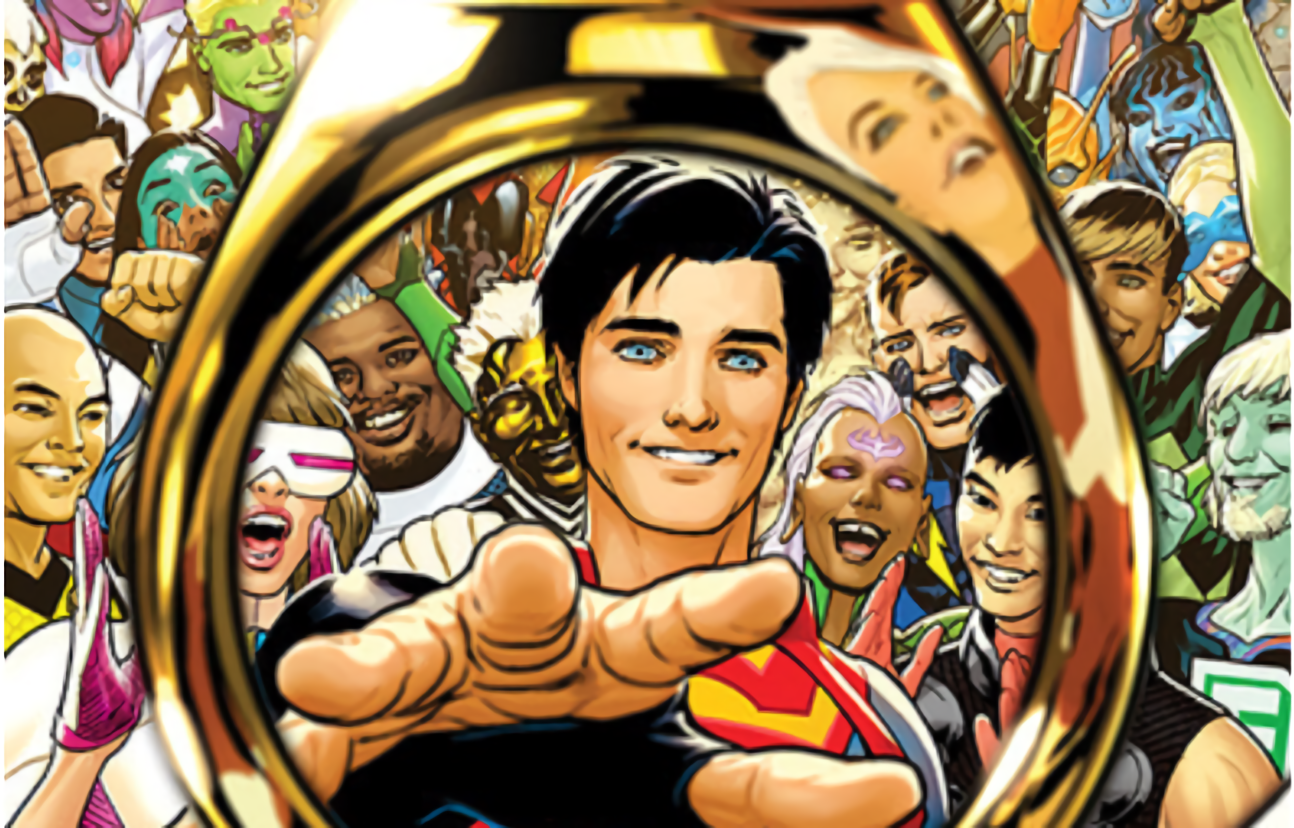 Superboy joins the Legion of Super-Heroes and fellow legionnaires get new look