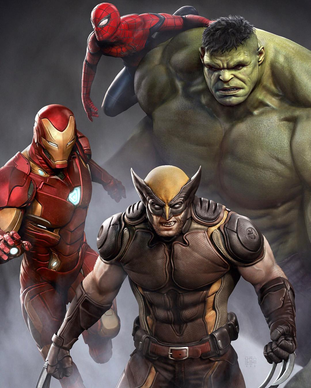Wolverine, Venom, Omega Red and more characters in the Marvel Cinematic Universe as imagined by God of War art director Raf Grassetti.