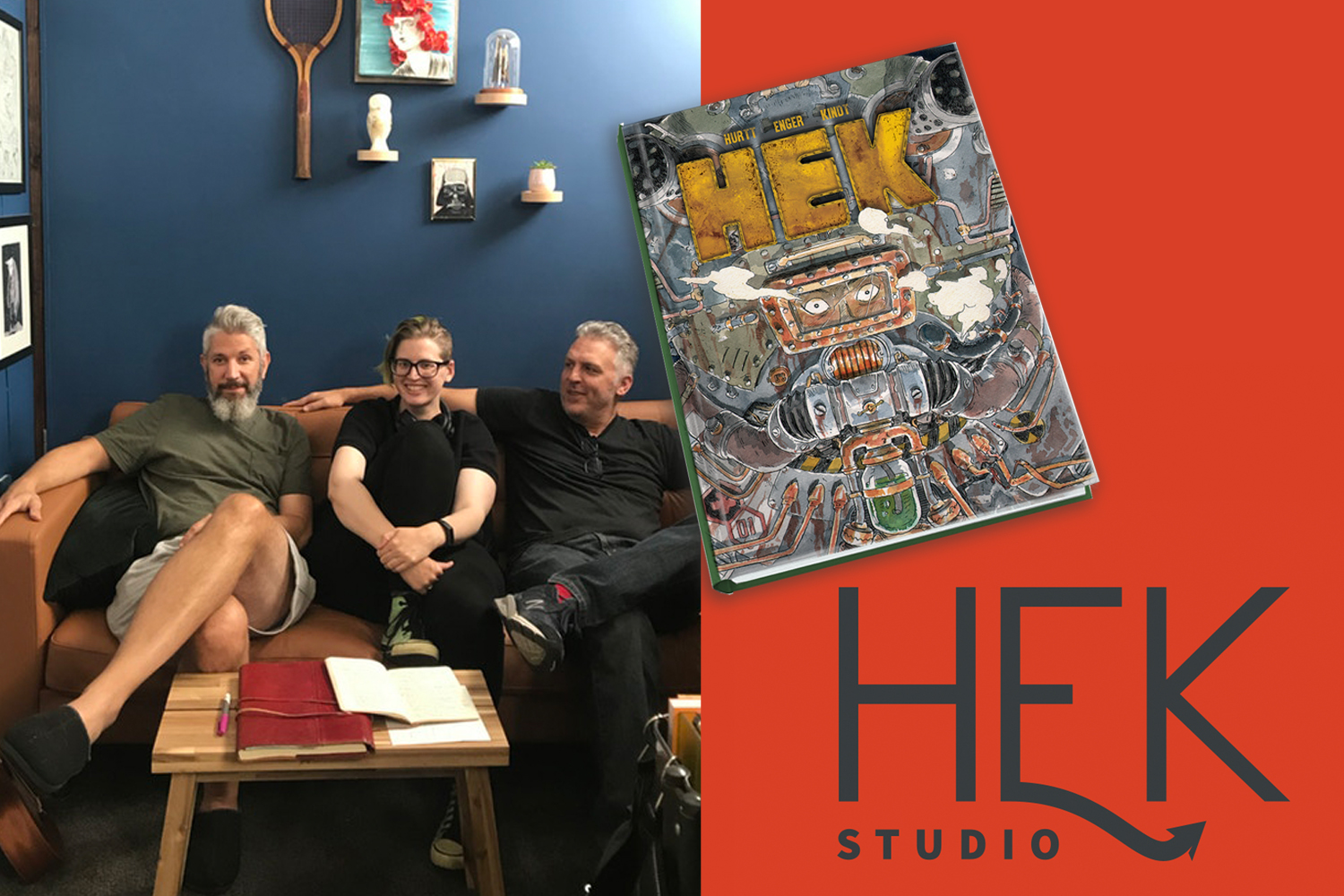 Welcome to HEK: Brian Hurt, Marie Enger, and Matt Kindt talk creating new kinds of comic stories