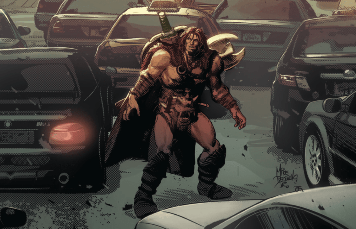 A barbarian from an age of myth and legend has come to modern times.