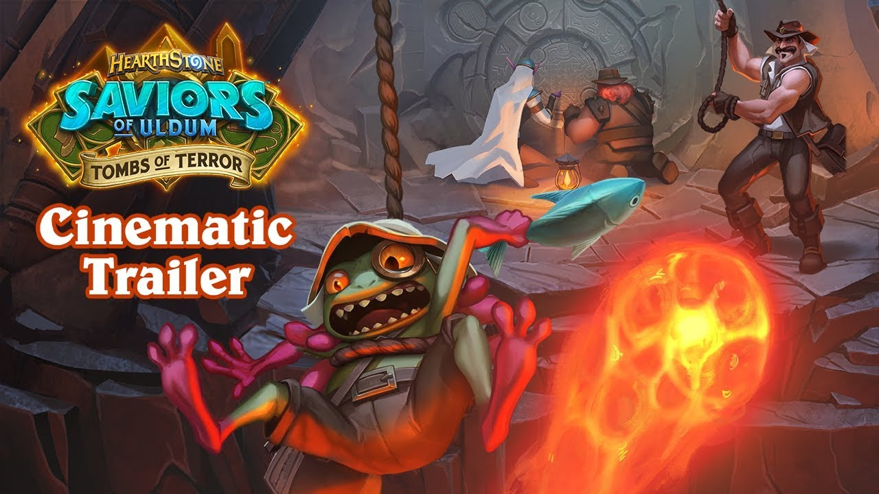 Hearthstone: Saviors of Uldum: Tombs of Terror cinematic shows which artifact the newly reunited League of Explorers discovers