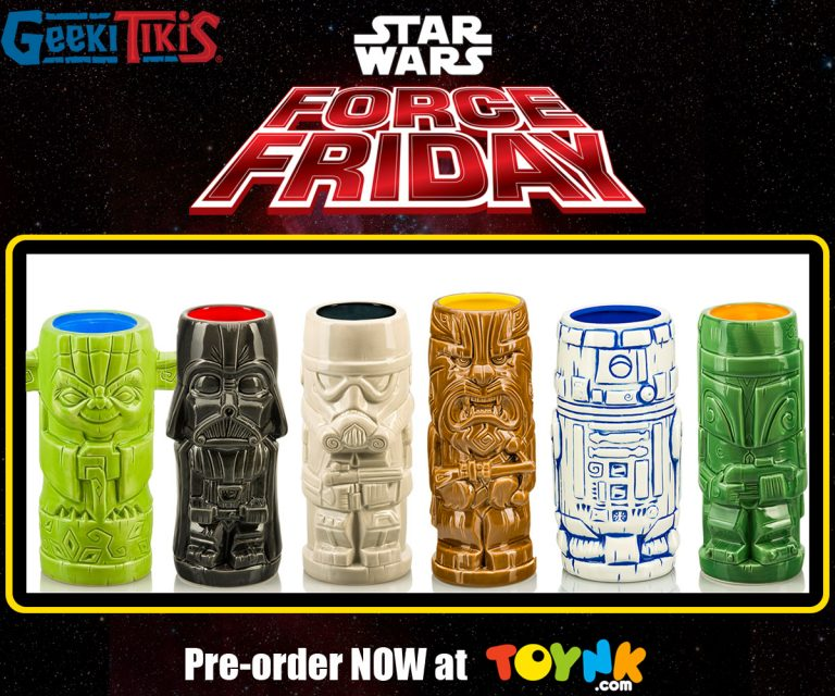 Re-launch of the series 1 Star Wars Geeki Tiki are available for pre-order at Toynk Toys!