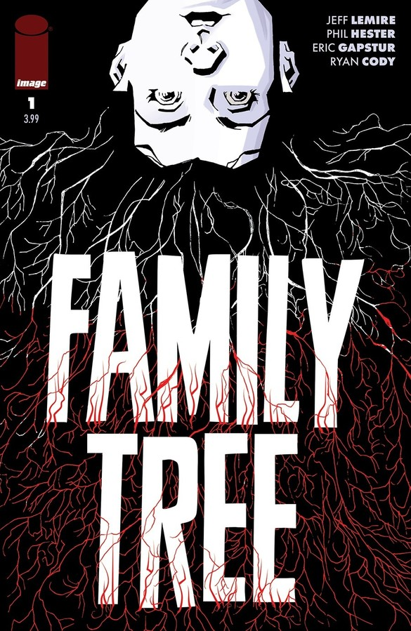 Family often rests at the heart of Jeff Lemire's work. Whether it's the amazing Sweet Tooth, the endearing Descender, or his excellent run on Animal Man, Lemire shows us the values of these core bonds in new and intriguing ways. And his latest book is no different: Family Tree follows the Hayes family (mom Loretta, son Josh, and daughter Meg) as they deal with a rather uncommon development -- Meg suddenly starts turning into a tree. Oh, and did we mention it may also be the apocalypse?