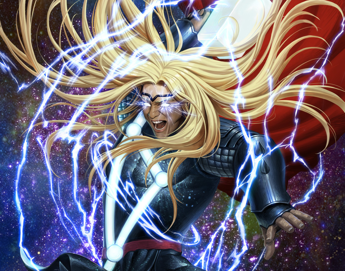 Witness the God of Thunder's fury in Woo Dae Shim's electrifying THOR #1 cover!