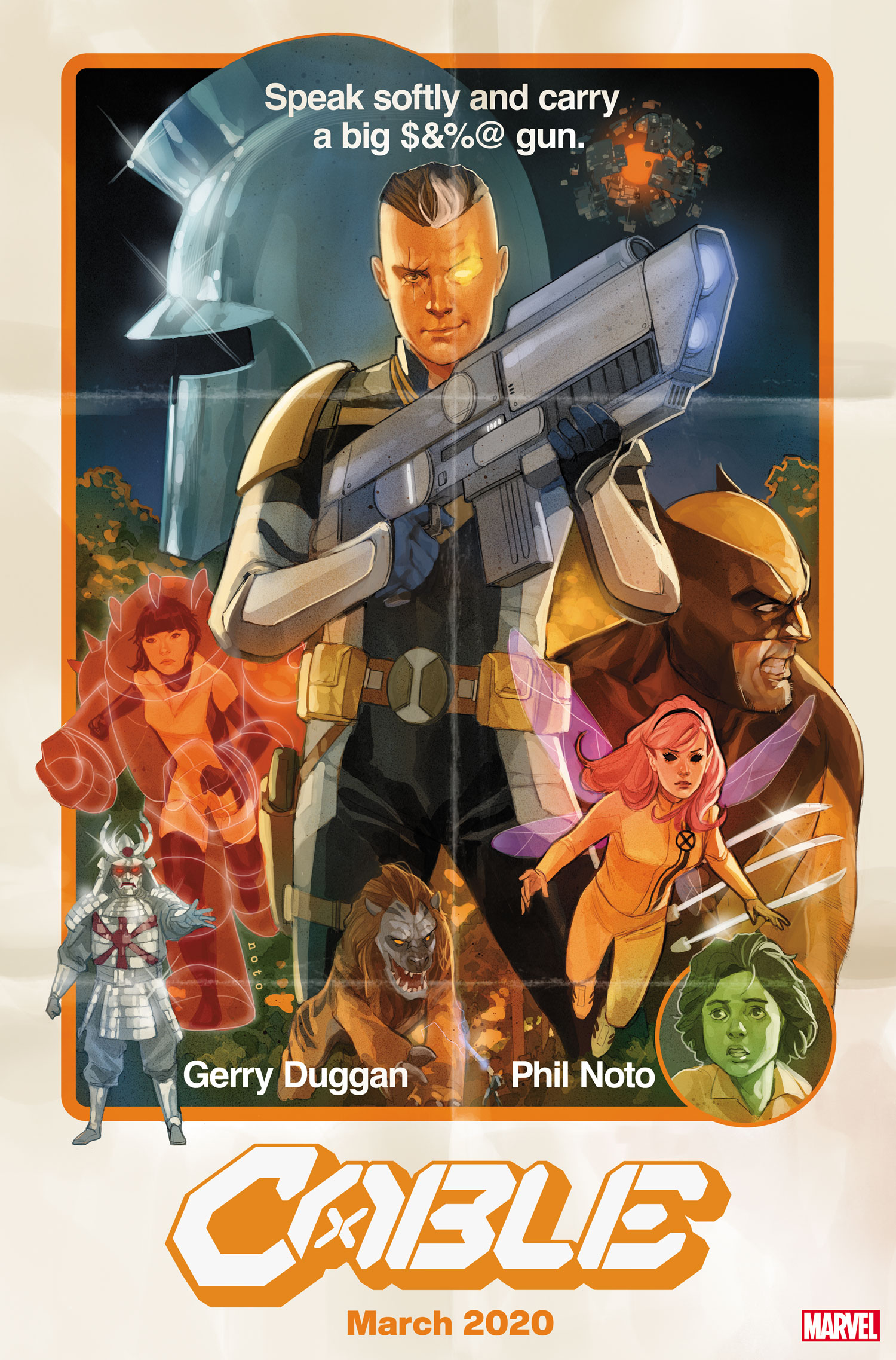 """""""Witness the dawn of rebellion"""" in March 2020 with Cable #1 by Gerry Duggan and Phil Noto"""