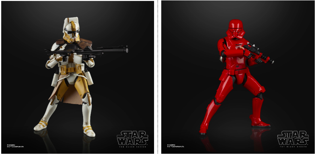 Hasbro Reveals Commander Bly and Sith Jet Trooper for Star Wars Black Series