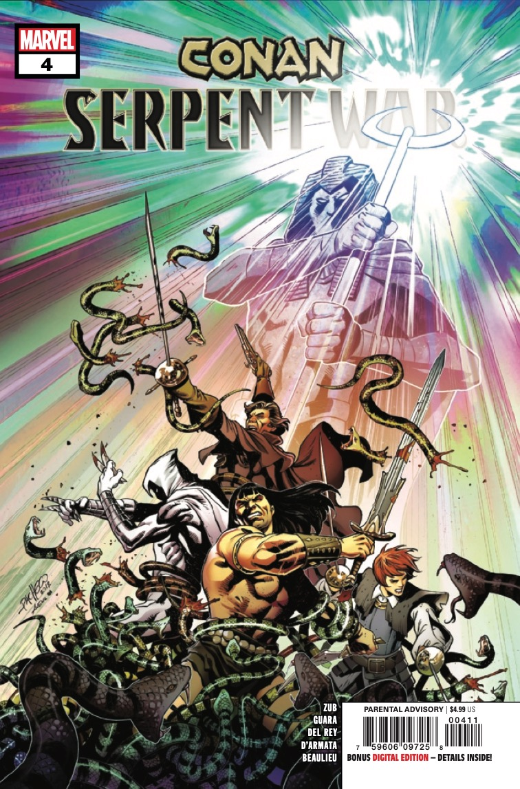 AGNES, KANE, and MOON KNIGHT join CONAN in the Hyborian Age for the final showdown between SET, the WYRM, and…KHONSHU?!