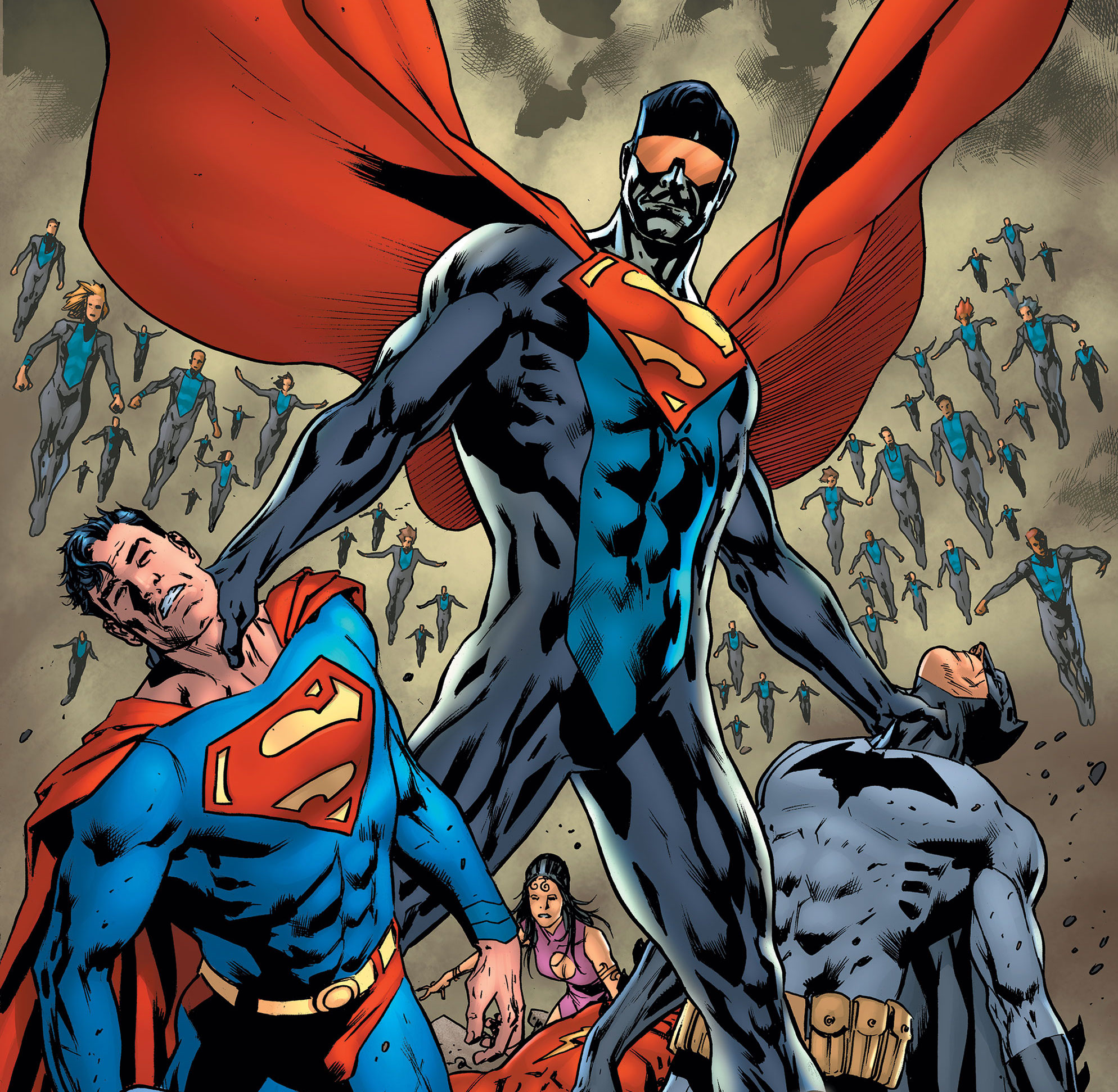 The Eradicator and His Supermen Continue their Assault on the Justice League!