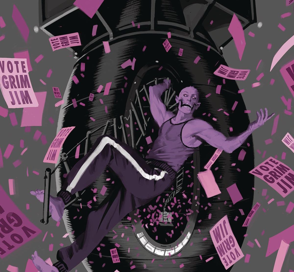 "I was incredibly impressed with the layout design in the first issue of Skulldigger and Skeleton Boy and also deeply interested how this story would diverge from the tropes we've seen in superhero tales before. Given Jeff Lemire said this is his ""love letter to Frank Miller,"" the tropes are very much on purpose. A commentary on superhero comics, Frank Miller in particular, with an artist in Tonci Zonjic to stretch our imaginations within this crime-alley inspired narrative? It sounds like a winning formula."