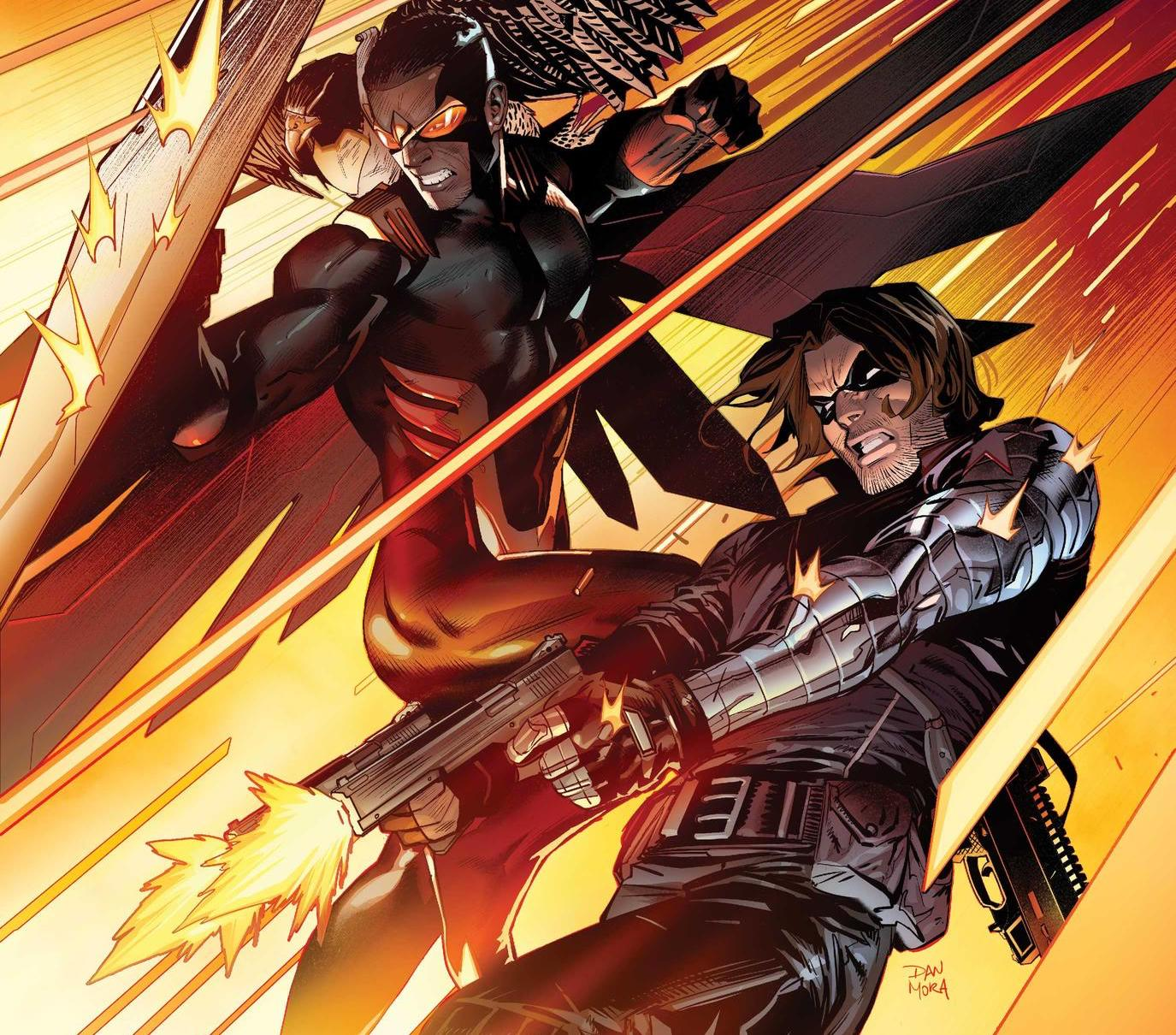 Marvel First Look: Chinese New Year Variant 'Falcon & Winter Soldier' #1 cover by Ziyian Liu