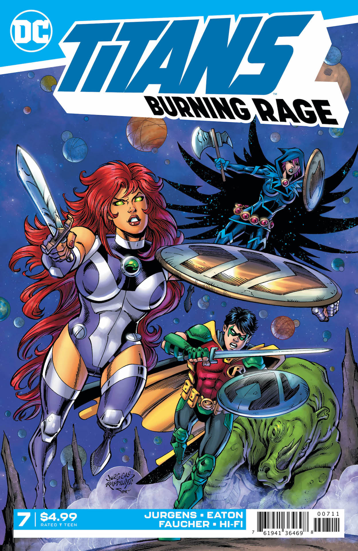 Starfire has been kidnapped and forced into gladiatorial combat on Warworld-and her opponent is the merciless Mongul!