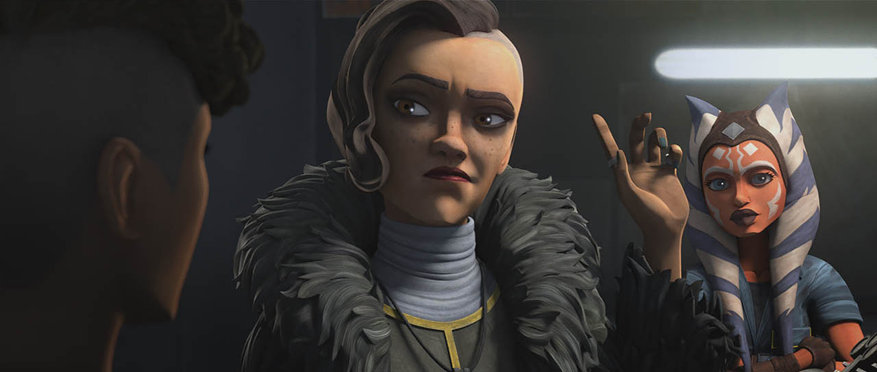 Last week, Ahsoka's speeder bike broke down, leaving her stranded on Level 1313 of Coruscant's underworld. Fortunately, her bike landed on the hangar (and repair shop) of Trace Martez, who has thus far proven to be a good hearted person--and maybe even a friend.