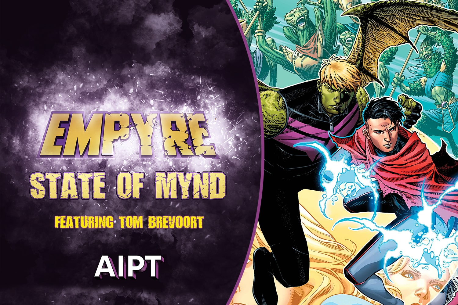 It takes a certain state of mind to comprehend the work, artistic integrity, and sheer willpower to create a comic book event, especially one as massive as the cosmos-spanning Empyre. Building an event with multiple tie-ins -- a veritable EMPIRE of comics -- requires a special kind of skill, tact, and organization. Where is Captain Marvel?, is Swordsman still sword..ing?, What's a Groot? All reasons why we're excited to peel back the curtain and see what Tom Brevoort has to say about the development of the numerous stories spilling into and out of Empyre starting April 15th in this, the second-ever EMPYRE STATE OF MYND!