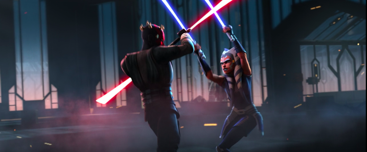 Lucasfilm hints at upcoming behind-the-scenes look Maul vs. Ahsoka lightsaber duel