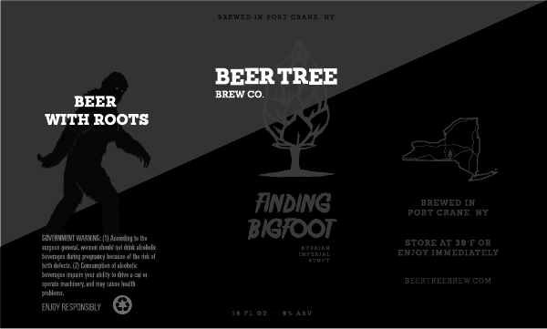 Beer Tree Brewing Co's Finding Bigfoot -- a mystery is something out of place