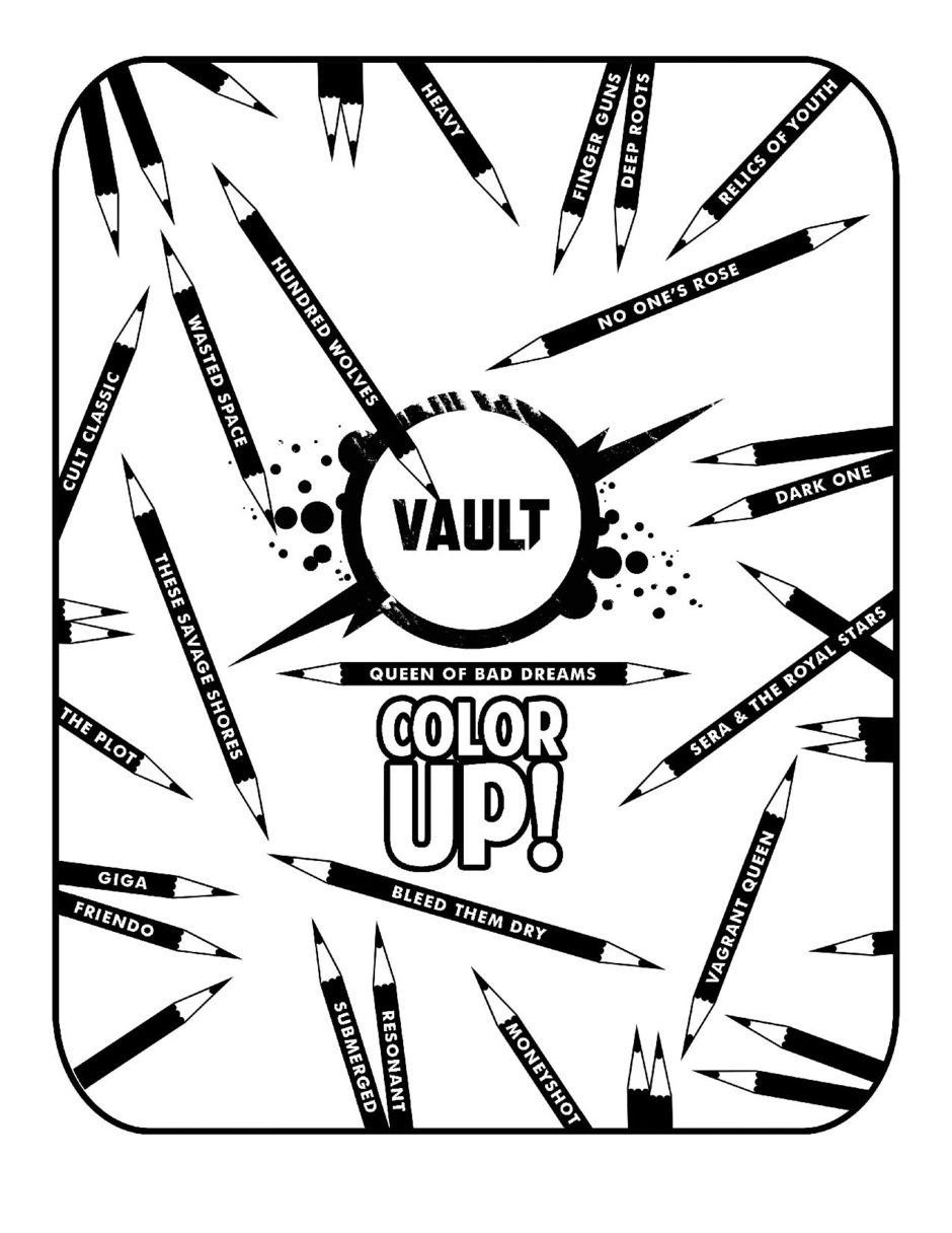 Vault Color Up comes in both high and low resolutions, so readers can color digitally or physically!
