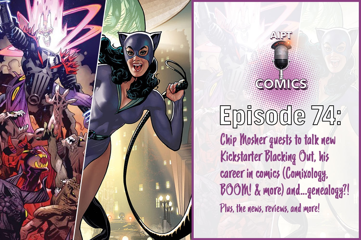 Comics podcast news recap, reviews, and an interview with Comixology Head of Content Chip Mosher.