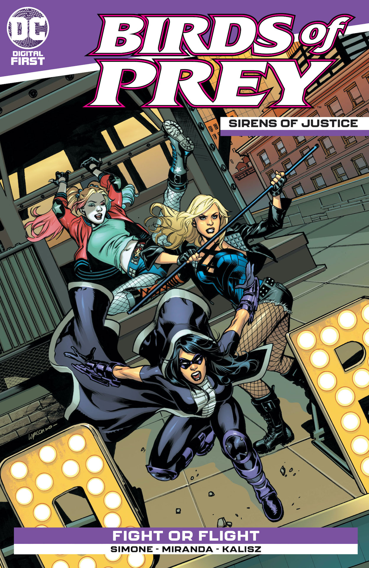 """Fight or Flight"" by Gail Simone starts Mat 27th in Sirens of Justice!"