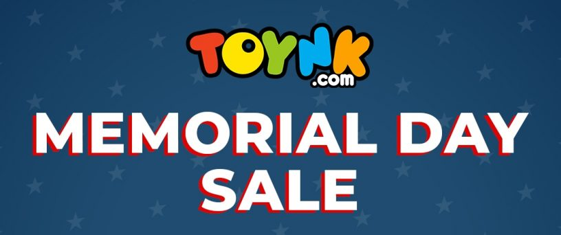 Head over to Toynk.com and save when you Buy 2, Get 1 free during their Memorial Day sale!