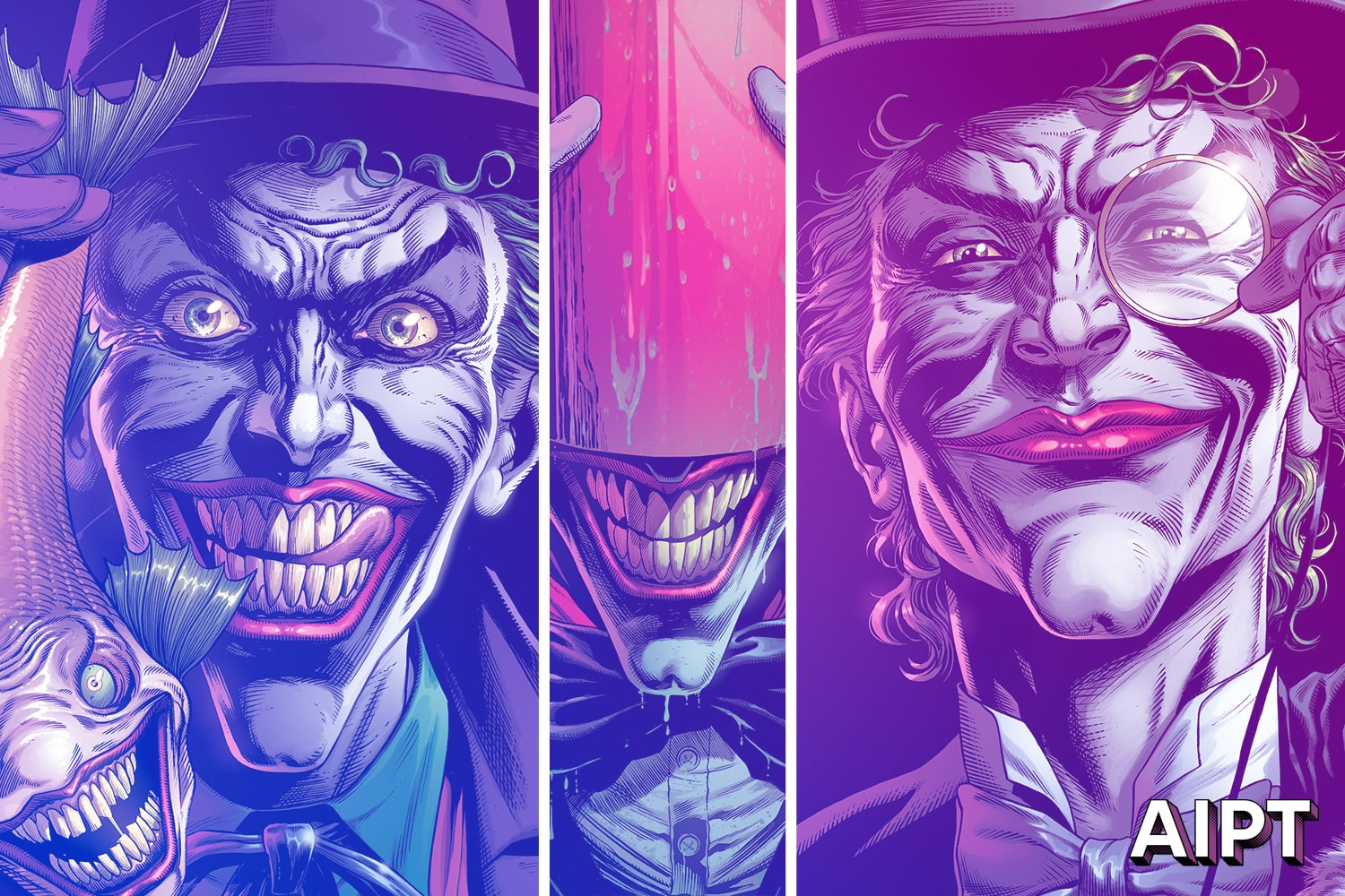 DC Comics unveils 6 of 9 variant covers for 'Batman: Three Jokers' by Jason Fabok
