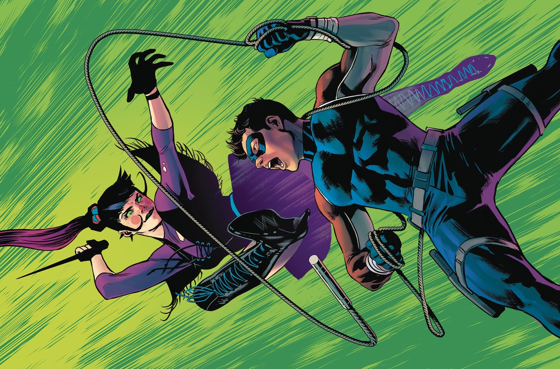 """Nightwing #72 in """"Welcome to the NEW Family."""""""
