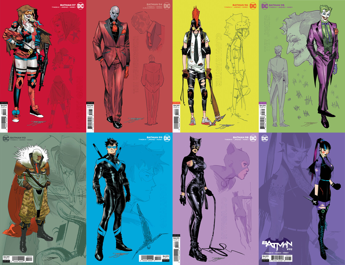 DC Comics featuring Jorge Jiménez's excellent character designs in new 1:25 card stock covers