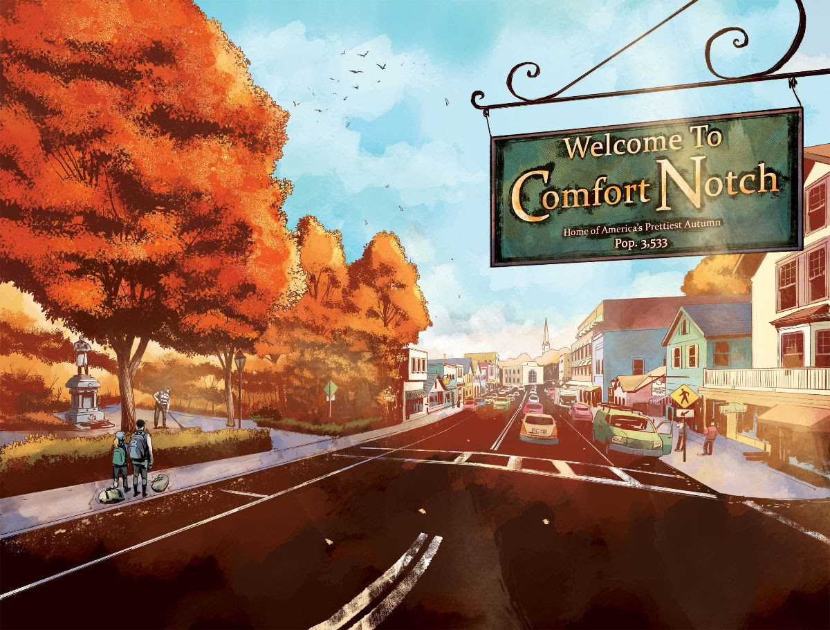 Kat Somerville and her daughter, Sybil, flee a difficult life in Chicago for the quaint--and possibly pernicious--town of Comfort Notch, New Hampshire.